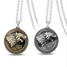ORP Game of Thrones House Stark Family badg Wolf necklaces two color A song of lce and fire pendant necklace Winter is coming