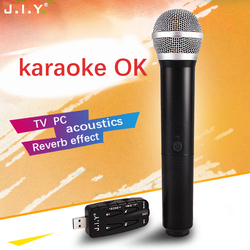 JIY USB Universal TV Microphone Wireless mixer audio Professional Wireless USB Microphone for karaoke computer TV Plug and play