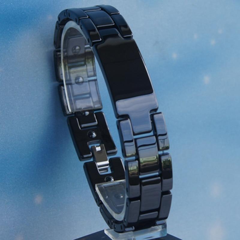 vary length black men classic hi tech scratch proof magnetic ceramic bracelets...