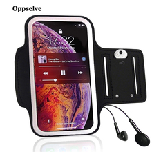 купить Oppselve Waterproof Gym Sports Running Armband For iPhone 7 4 5 5S 5C SE 6 6s 8 Plus X XS Max XR Phone Case Cover Holder Armband дешево