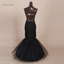 Blanco 1 Hoop Fishtail sirena falda vestido de novia crinolina negro nupcial enaguas Slips
