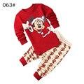 Niños Que Arropan el sistema Pantalones de sudadera con capucha de dos piezas niños niñas otoño invierno de dibujos animados de Mickey de algodón rojo moda casual para 2,3, 4,5, 6,7 años