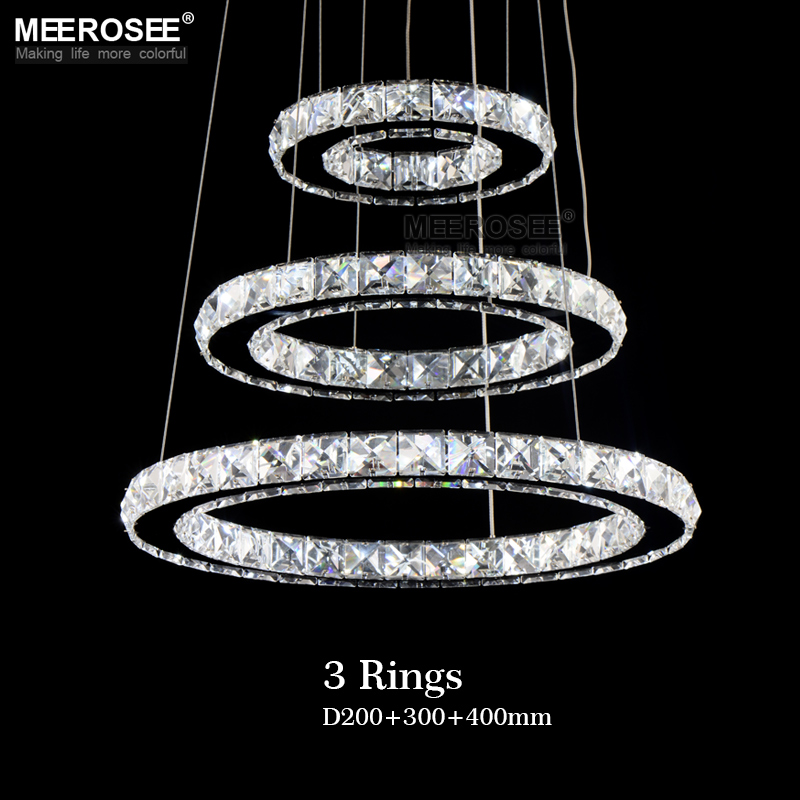 Modern LED Pendant Lights 90 260V Dimmable With Remote Control hanging light Crystal Luminaire Suspension For Modern LED Pendant Lights 90-260V Dimmable With Remote Control hanging light Crystal Luminaire Suspension For Dining room Loft