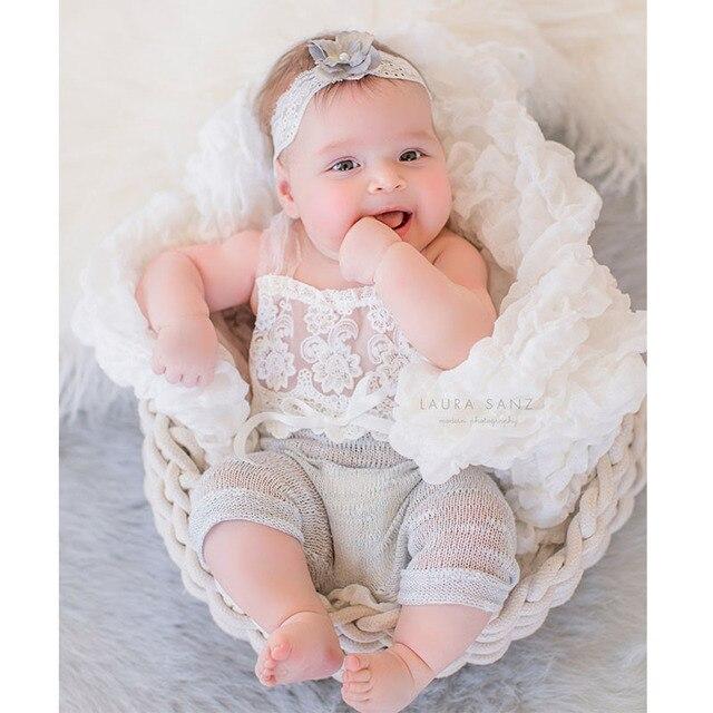 3ece1a100 2017 Handmake 6 months Baby Sitter Romper Sitter Newborn Photography ...