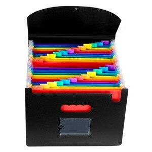 Image 2 - Expanding A4 For File Folder OffiConsent Plastic Rainbows Organizer A4 Letter Size Portable Documents Holder Wallet Desk Storage