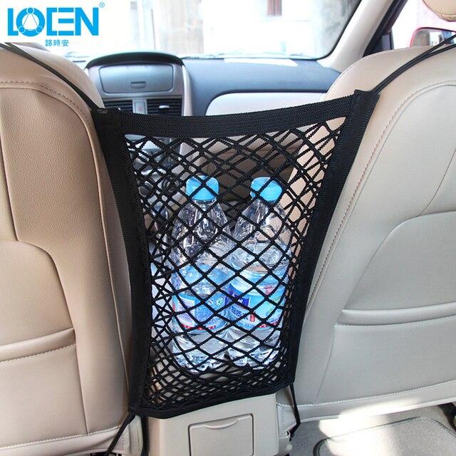 High Quality Car Truck Storage Luggage Hooks Hanging Organizer Holder Car Elastic Seat Bag Mesh Net Storage Bag Car Phone Holder