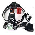 2*18650 Battery +2017 LED 3T6+2R Headlamp Headlight Bicycle Light Rechargeable LED Fishing lamp +Car Charger+Charger