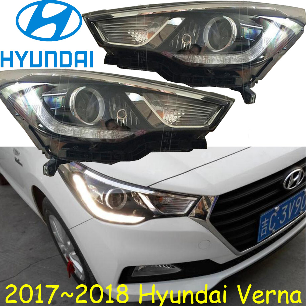 US $332 5 5% OFF|Verna headlight,2017~2018,Free ship! verna daytime  light,creta,accent,verna head lamp,santa fe,tucson,verna head light-in Car  Light