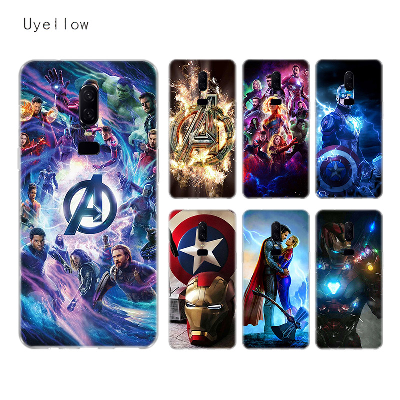 Uyellow The Avengers Super Silicone Soft TPU Phone Case For One Plus font b 7 b