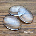 30x40mm Handmade Transparent Clear Glass Cabochon Oval Supplies for Jewelry Accessories 5pcs