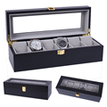 2019 de lujo 6 rejillas caja de reloj de madera hecha a mano caja de reloj caja de tiempo para reloj