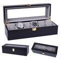 2019 luxus 6 Grids Handgemachte Holz Uhr Box Holz Uhr Box Uhr Fall Zeit Box für Uhr Halten
