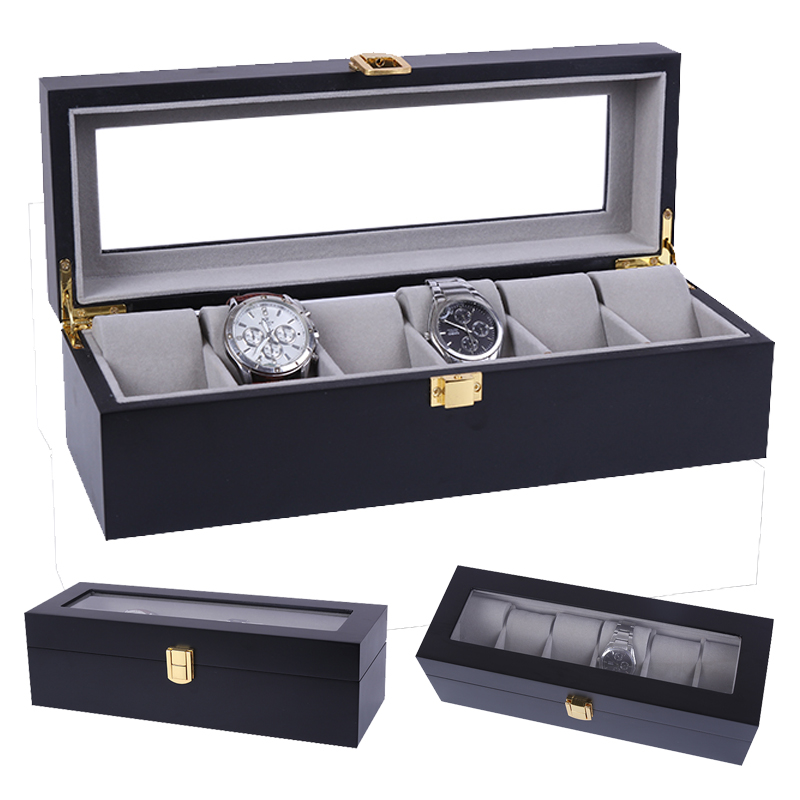2020 Luxury 6 Grids Handmade Wood Watch Box Wood Clock Box Watch Case Time Box for Watch Holding2020 Luxury 6 Grids Handmade Wood Watch Box Wood Clock Box Watch Case Time Box for Watch Holding
