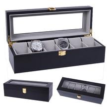 2020 Роскошные 6 сетки деревянные часы ручной работы коробка деревянные часы в коробке коробка времени для часов