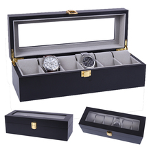 2020 Luxury 6 Grids Handmade Wood Watch Box Wood Clock Box Watch Case Time Box for Watch Holding
