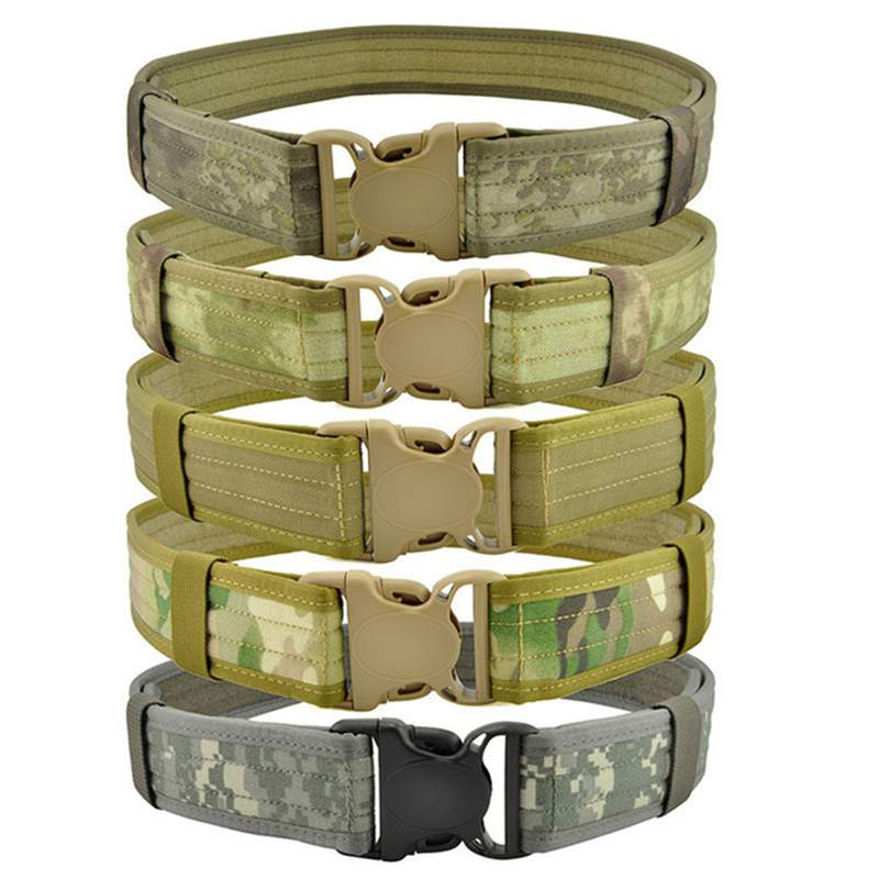 Military Camouflage Tactical Duty Shooter Utility Web Belt For Airsoft Paintball Hunting 1000D CORDURA Wholesale