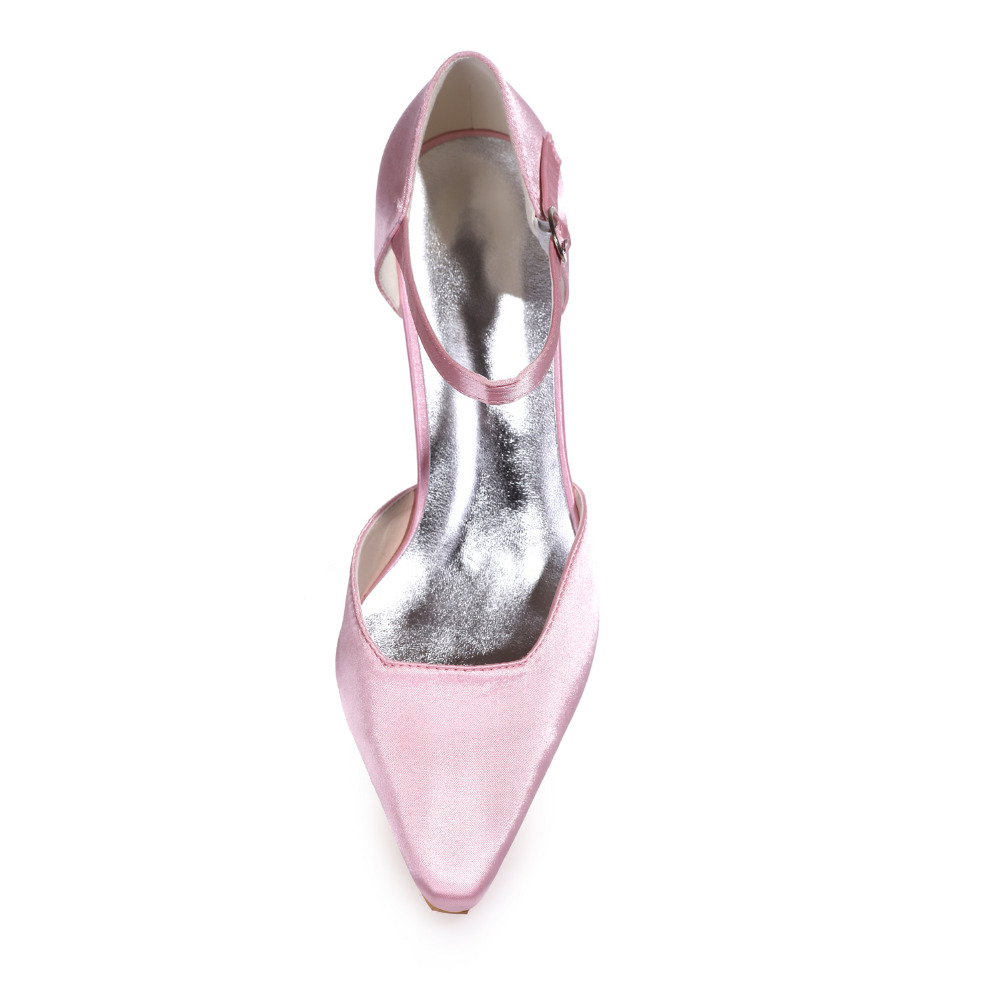 Creativesugar Pointed toe D orsay ankle strap med hoof heel lady elegant evening  dress shoes prom ball shoes office heels pink-in Women s Pumps from Shoes  ... 4d7bf424d270