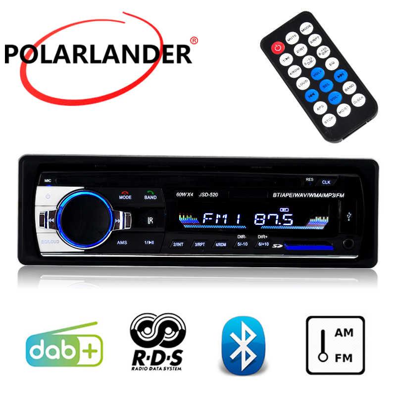FM AM AUX DAB + Bluetooth USB SD カードスロットラジオカセットプレーヤー 1 DIN RDS 液晶、収入カーオーディオ MP3 プレーヤー Autoradio カーラジオ
