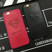 Superman Leather Case For iPhone