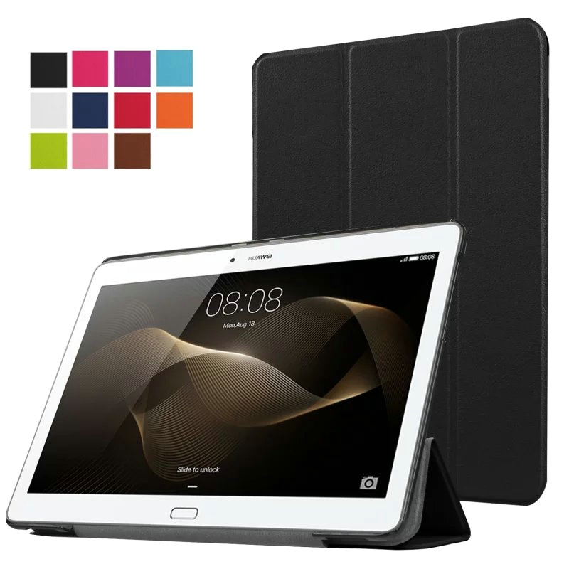 Luxury Ultra Thin Slim Magnetic Folio Stand Leather Case Smart Cover For Huawei MediaPad M2 10.0 M2-A01W/F/L 10.1 inch Tablet image