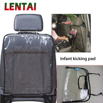 LENTAI 1PC Car Seat Back Children Anti Kick Mat Cover For BMW E39 E90 E60 E36 F30 F10 E34 E30 Mini Cooper Audi A4 B8 A3 A6 C6 image