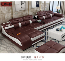 Living Room Sofa set corner sofa massage real genuine cow leather sectional sofas minimalist muebles de sala moveis para casa