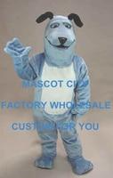 Улыбаясь синий щенок собака Маскоты костюм для взрослых Размеры Лидер продаж собака Маскоты te костюм нарядное платье партии Карнавал Cosply