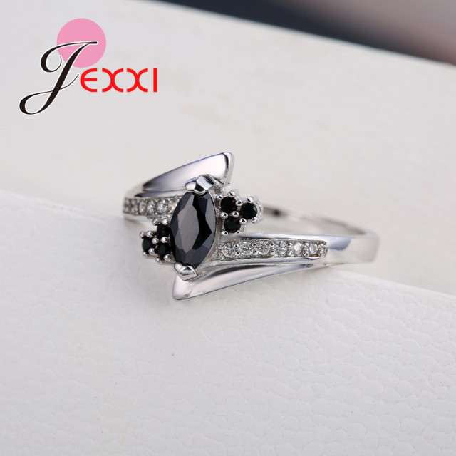 New Arrival Cute Shiny Cubic Zirconia Rings For Women Big Discount 925 Sterling Silver Party Jewelry Gift Free Shipping 2