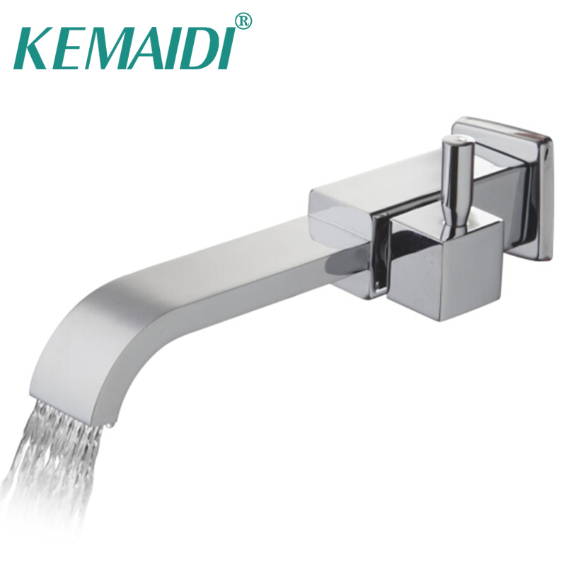 KEMAIDI Solid Brass Bath Basin Faucet torneira Bathroom Bathtub Faucet Waterfall Spout Vessel Vanity Taps Bathroom Faucets Tap