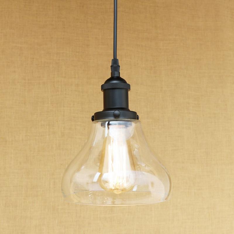 modern 3 shapes clean glass shade e27 pendant lamp led edison bulb pendant light fixture for