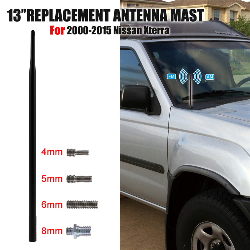 JAPower Replacement Antenna Compatible with Nissan Xterra 2000-2015 5.25 inches-Black