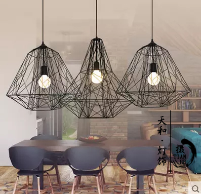 creative Diamond Pendant new Loft American retro industrial iron cage pendant light personality cafe bar Nordic GY182 kingston kvr13lr9d8 8