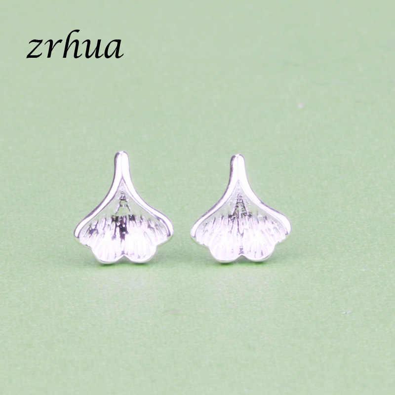 ZRHUA หญิงต่างหูรูปหัวใจ 100% 925 เงินสเตอร์ลิงต่างหูสำหรับของขวัญผู้หญิงเงินสเตอร์ลิง - เครื่องประดับ Pendientes Mujer