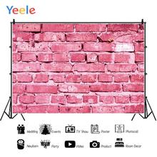 Yeele Pink Brick Wall Toy Pet Portrait Chroma Key Personalized Photographic Backdrops Photography Backgrounds For Photo Studio