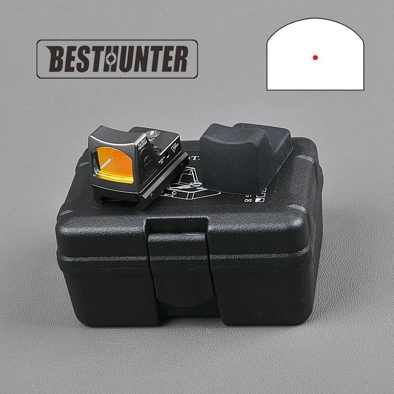 Trijicon RMR Red Dot Sight Collimator Sight Fit Glock 20mm Weaver Rail Mini Reflex Sight Handgun
