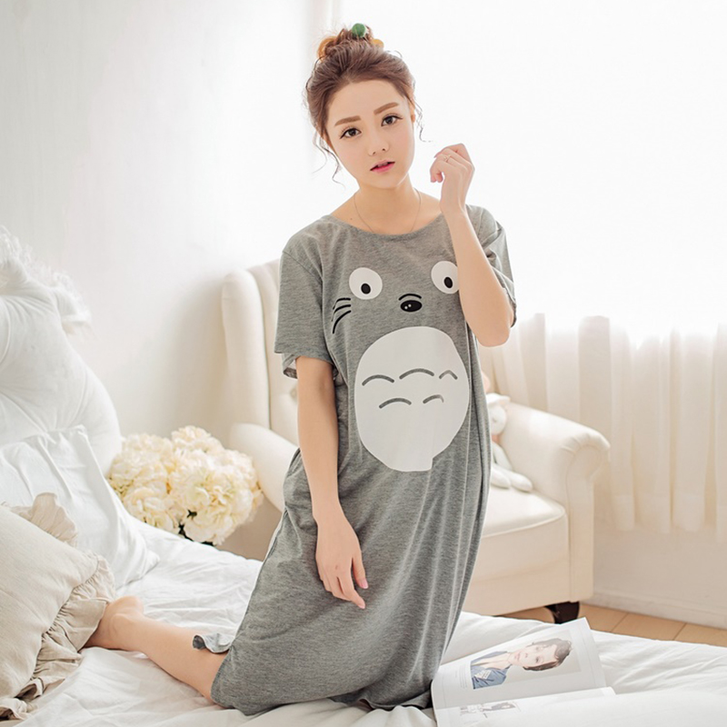 جارتي Totoro Loungewear nightwear الصيف تي شيرت قصيرة الأكمام المحملات قمم شيرت