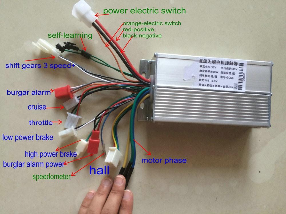 2019 36v48v60v64v 500w600w Bldc Motor Controller 12 Mosfet