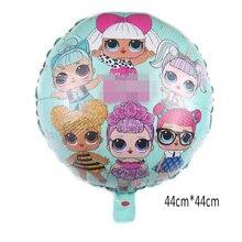 1 pcs New LO aluminum balloon balloon surprise doll mermaid doll balloon party bar decoration balloon baby toy balloon цена