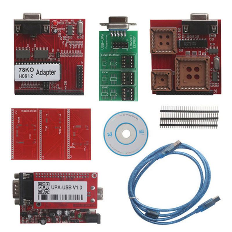 Hot Sale UUSP UPA-USB Serial Programmer Full Package V1.3 UPA USB V1.3 UPA Programmer ECU Chip Tunning by DJL Free Shipping 2016 newest ktag v2 11 k tag ecu programming tool master version v2 11ktag k tag ecu chip tunning dhl free shipping