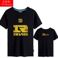 LOL RNG MATA Xiaohu Unisex Short Sleeve Cosplay T shirt Free Shipping