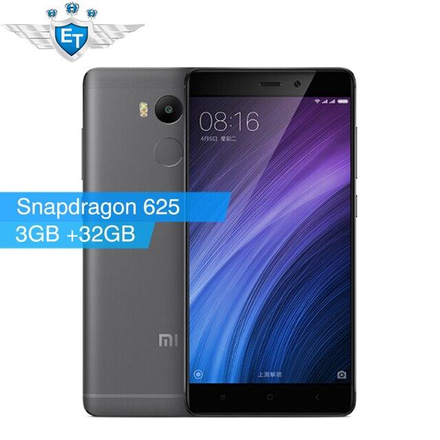 """Оригинал Xiaomi Redmi 4 Pro Простые 3 ГБ RAM 32 ГБ Глобальной ROM Смартфон Snapdragon 625 Octa Core CPU 5.0 """"FHD 13MP Камера 4100 мАч"""