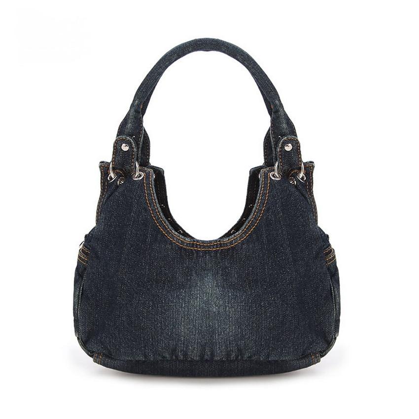 KISS KAREN Fashion Diamond Studs Denim Bag տիկնայք - Պայուսակներ - Լուսանկար 3