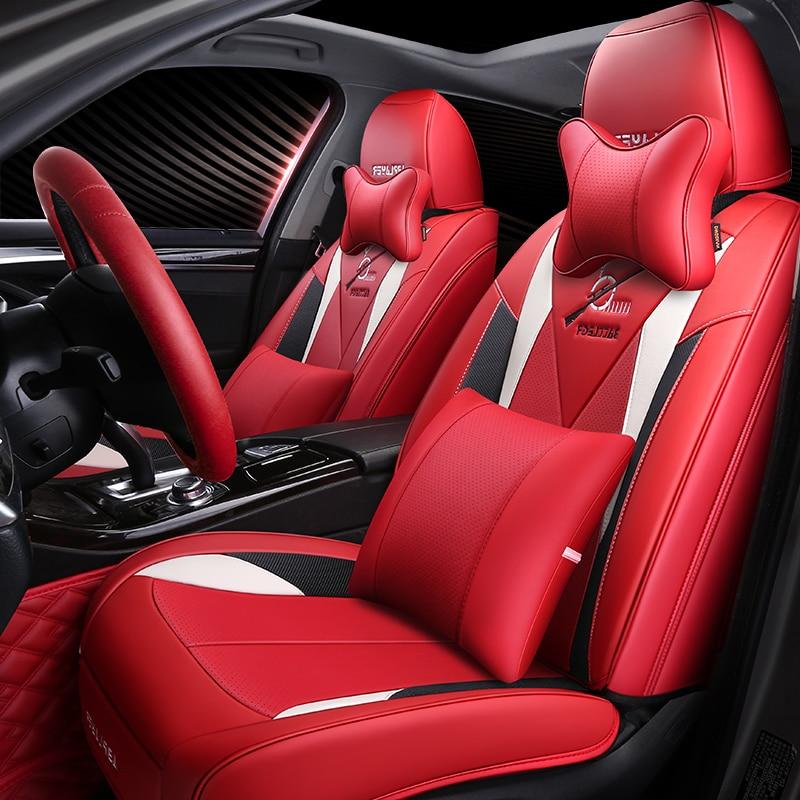 9D en fiber de carbone de luxe en cuir de voiture housse de siège De Voiture Coussins De Siège De Voiture pad Voiture de Coiffure Pour Renault Scenic Fluence latitud Koleos La
