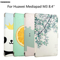 YNMIWEI Tablet Case For Mediapad M3 Luxury Printing Stand Matte Cover Case For Mediapad M3 8