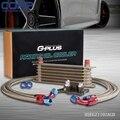 PARA BMW MINI COOPER S R56 TURBO 06-12 GPLUS 7 Row MOTOR OIL COOLER KIT Ouro