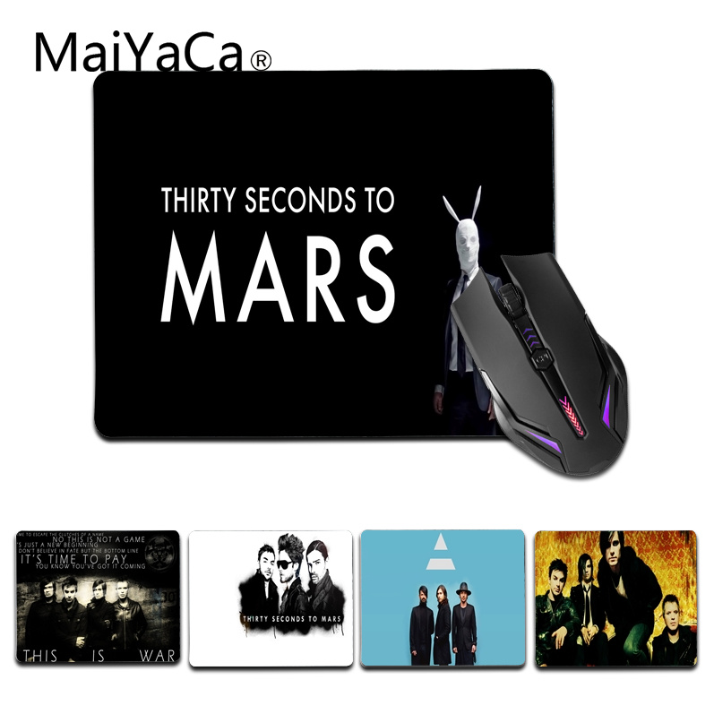 MaiYaCa Jared Leto 30 Seconds to Mars mouse pad gamer play mats Size for 18x22cm 25x29cm Gaming Mousemat
