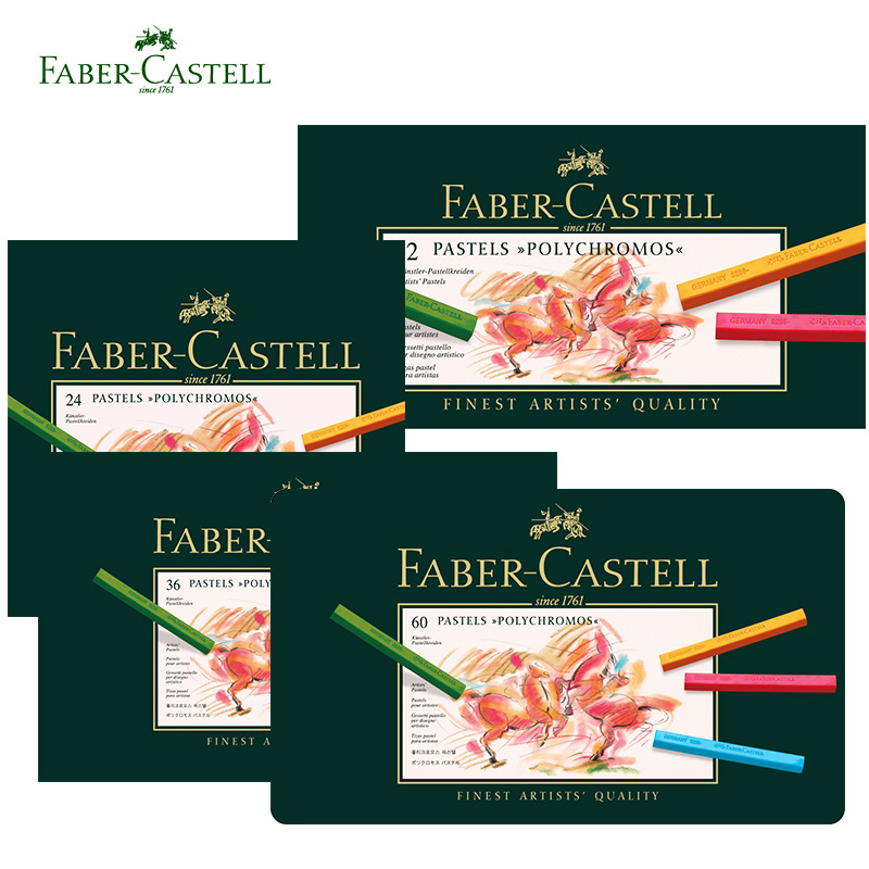 Faber Castell 12/24/36/60 Color Pastel Crayon Polychromos Nontoxic Professional Artist Painting Oil Crayons Hand-Painted цены