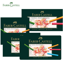 Faber Castell 12/24/36/60 Color Pastel Crayon Polychromos Nontoxic Professional Artist Painting Oil Crayons Hand-Painted