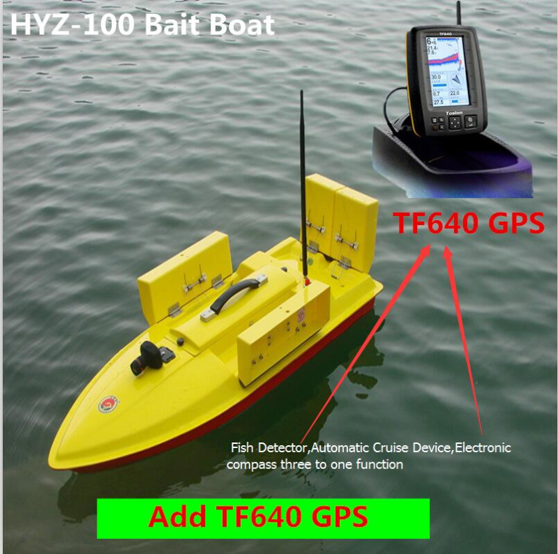 Intelligent Large Remote Contorl Fishing Boat 100CM 2.4G 500M 7KG Load 4 Bait Well 4 Lines RC Bait Boat Add GPS Fish Detector