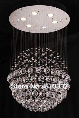 50cm New Spherical Crystal Chandelier Round Pendant Lamp Light Lighting ems free shipping SJ37 ems free shipping fashion pendant light cloth lamp cover crystal pendant light wrought iron candle lamp rustic lighting bq6 3